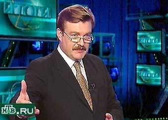 Evgeny Kiselev, NTV's chief anchorman in the 1990s